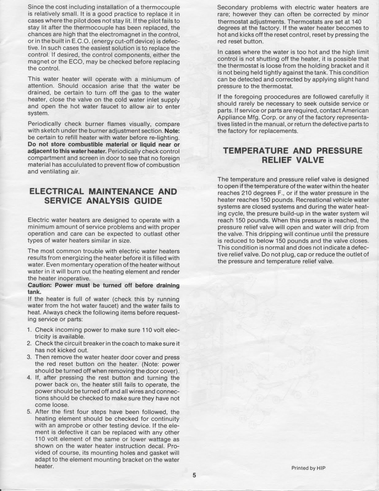 Fleetwood Pace Arrow Owners Manuals Mor Flo Water